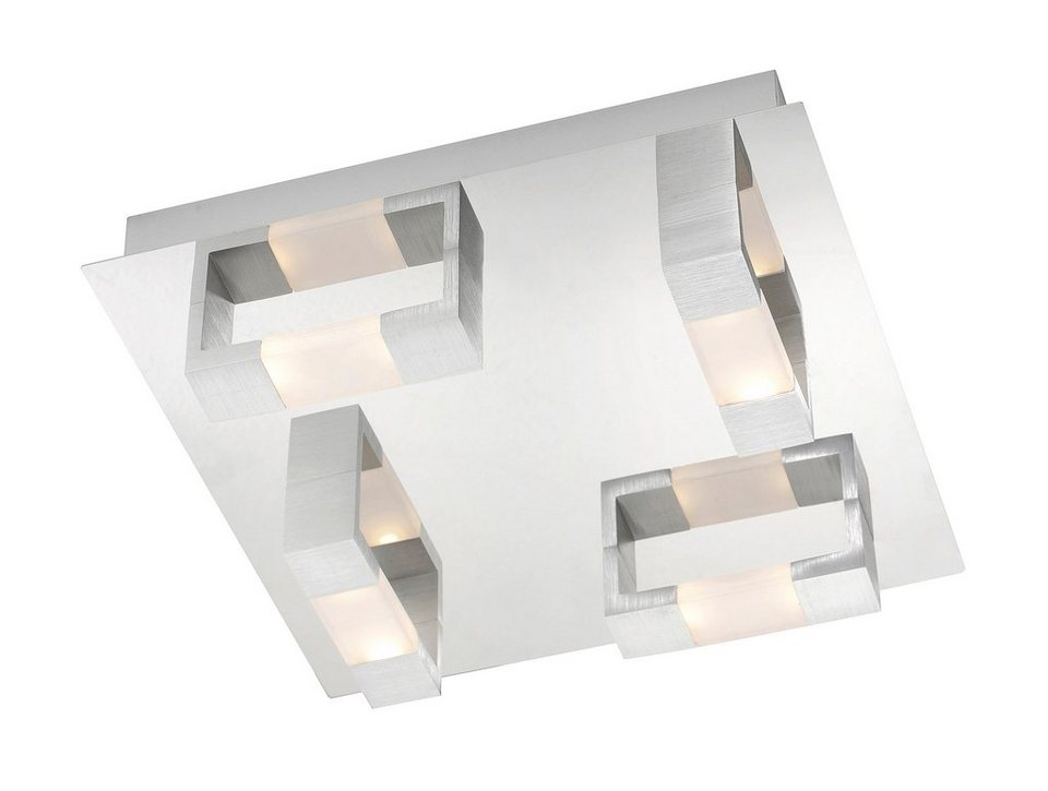 Paul Neuhaus LED-Deckenleuchte, 8flg., »KEMOS« in Aluminium gebürstet