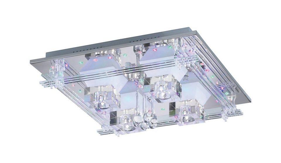 Paul Neuhaus LED-Deckenleuchte, »METIS« in Metall, chromfarben