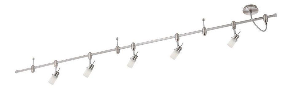 Paul Neuhaus LED-Deckenleuchte, 5flg., »GRANBY-LED« in Stahl, metallfarben