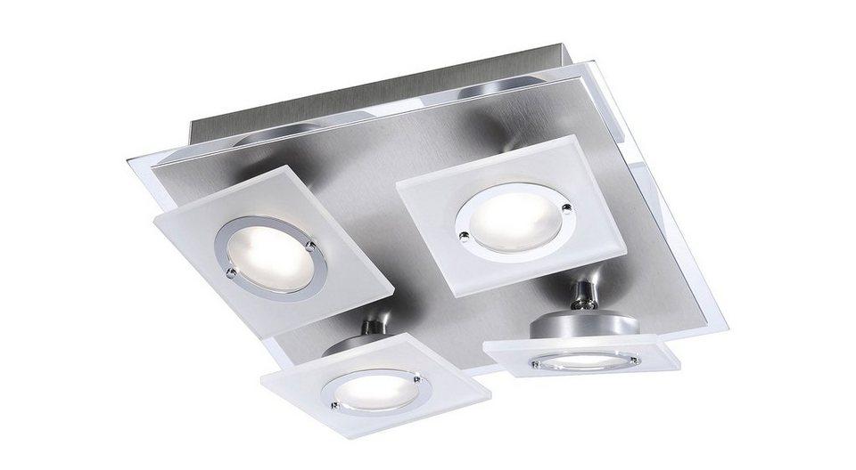 Paul Neuhaus LED-Deckenleuchte, 4flg., »ROTATOR« in Metall, Aluminium