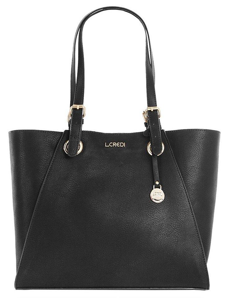 L.Credi Damen Handtasche »Helene« in schwarz