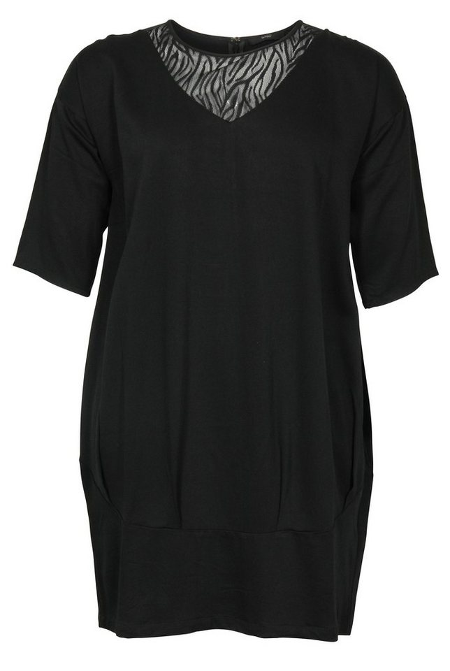 Ciso Jerseykleid in schwarz