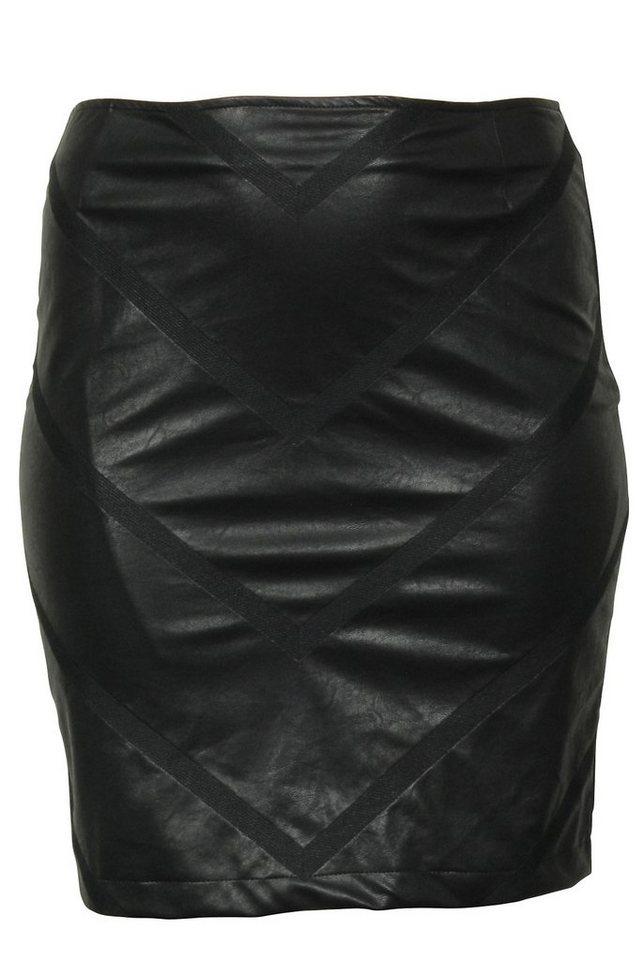 Ciso Lederimitatrock in schwarz