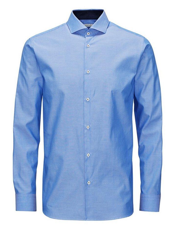 Jack & Jones Aus exklusivem Stoff gefertigtes Freizeithemd in Cashmere Blue