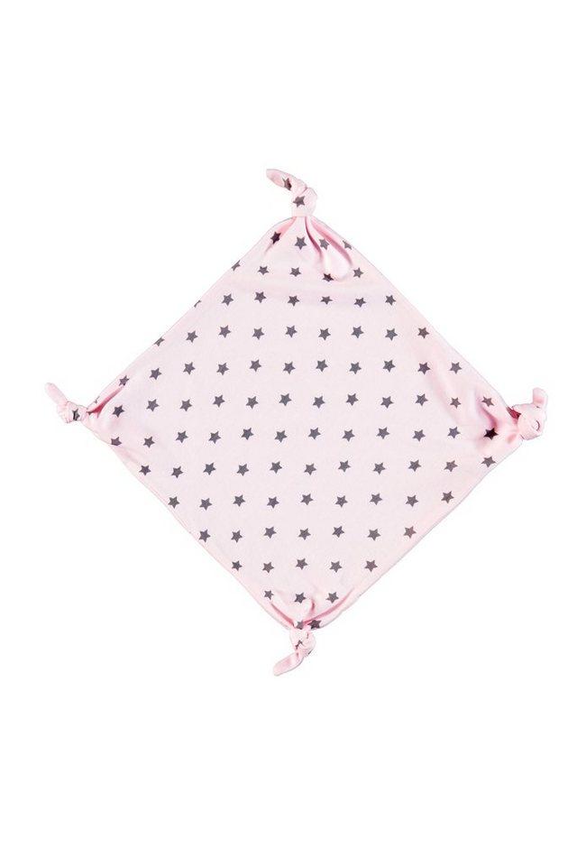 BELLYBUTTON Kuscheltuch »mit Knoten, Sternen und uni« in cradle pink