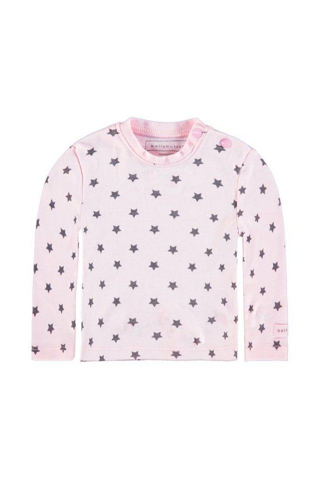 BELLYBUTTON Langarmshirt »Baby mit Sternen« in cradle pink