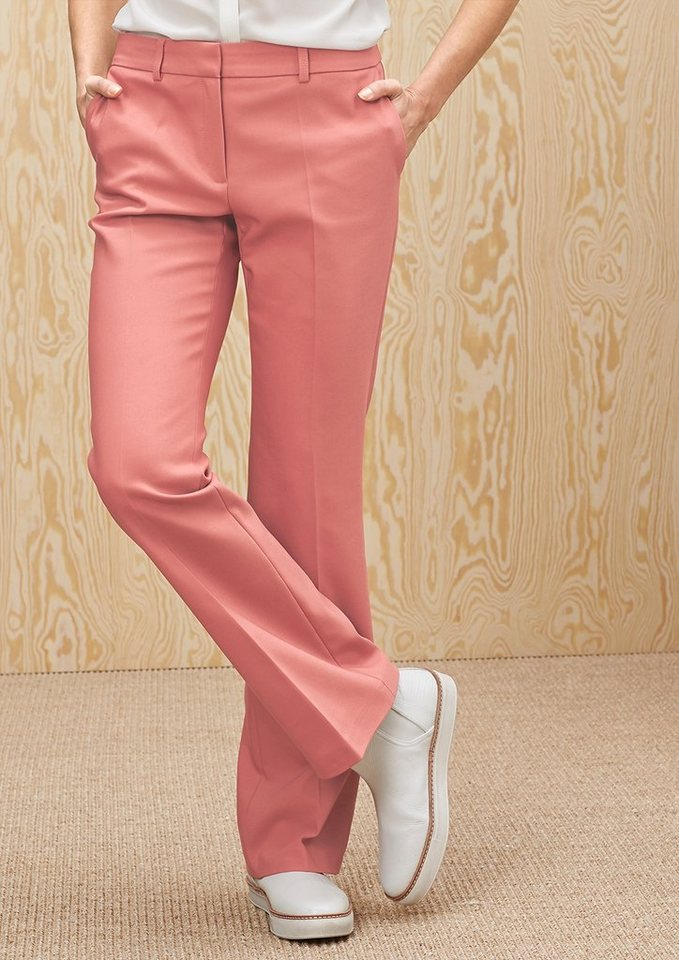 s.Oliver PREMIUM Slim: Hose aus Baumwollstretch in rose blush
