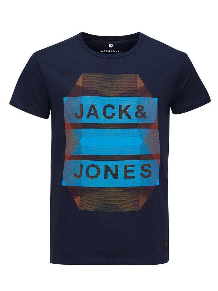 Jack & Jones Grafik T-Shirt in Navy Blazer