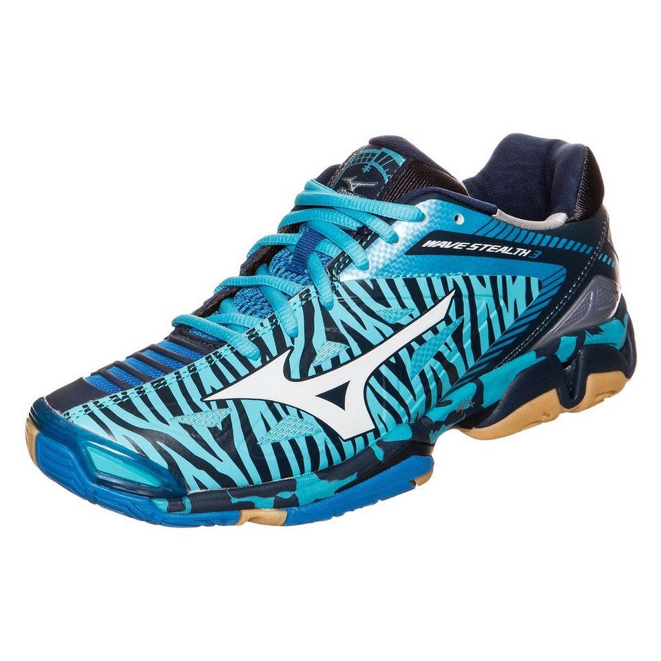 MIZUNO Wave Stealth 3 Handballschuh Damen in blau / weiß