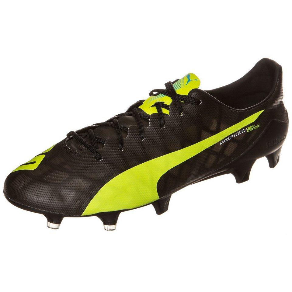 PUMA evoSPEED SL FG Fußballschuh Herren in schwarz / gelb