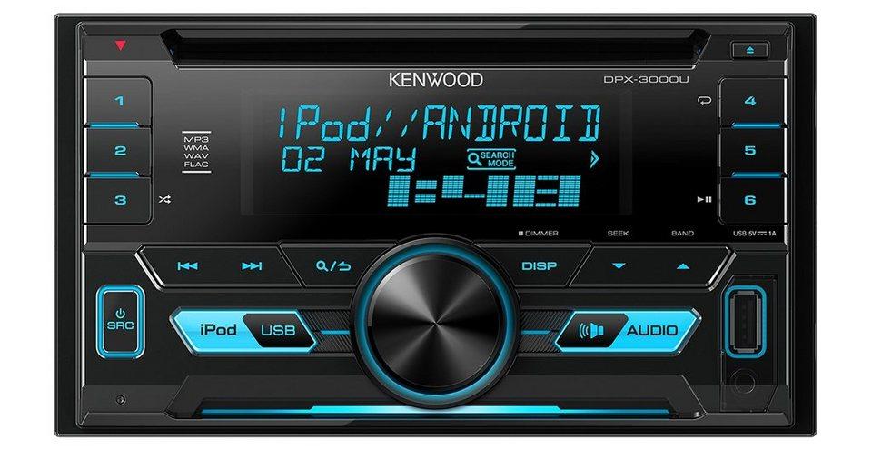 Kenwood 2-DIN USB-CD-Receiver »DPX3000U« in schwarz