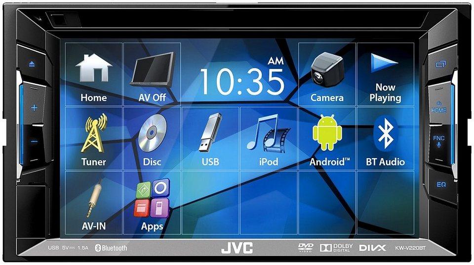 JVC 2-DIN Multimedia Autoradio »KW-V220BT« in schwarz