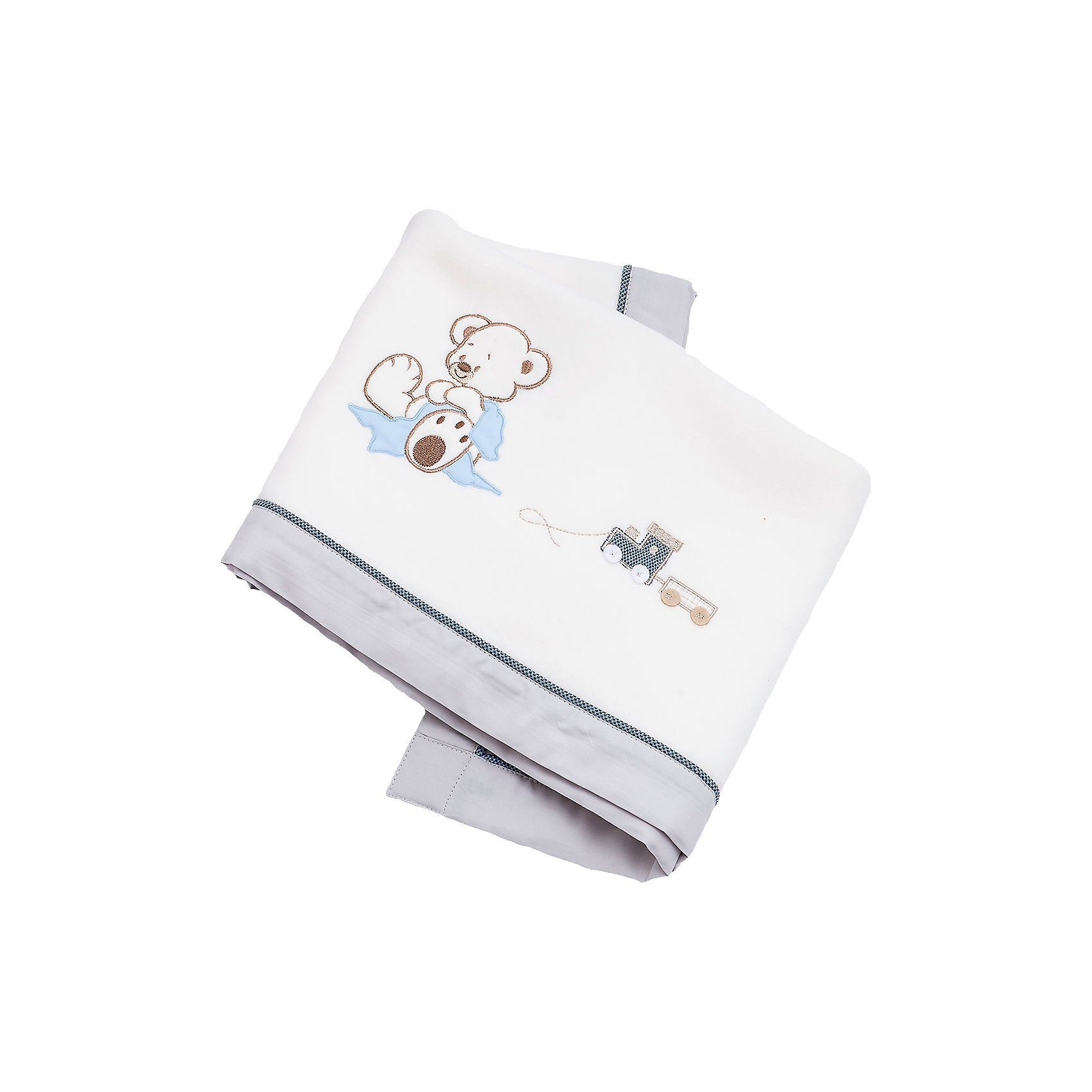 Be Be's Collection Fleece- Babydecke Oskar, blau, 75 x 100 cm