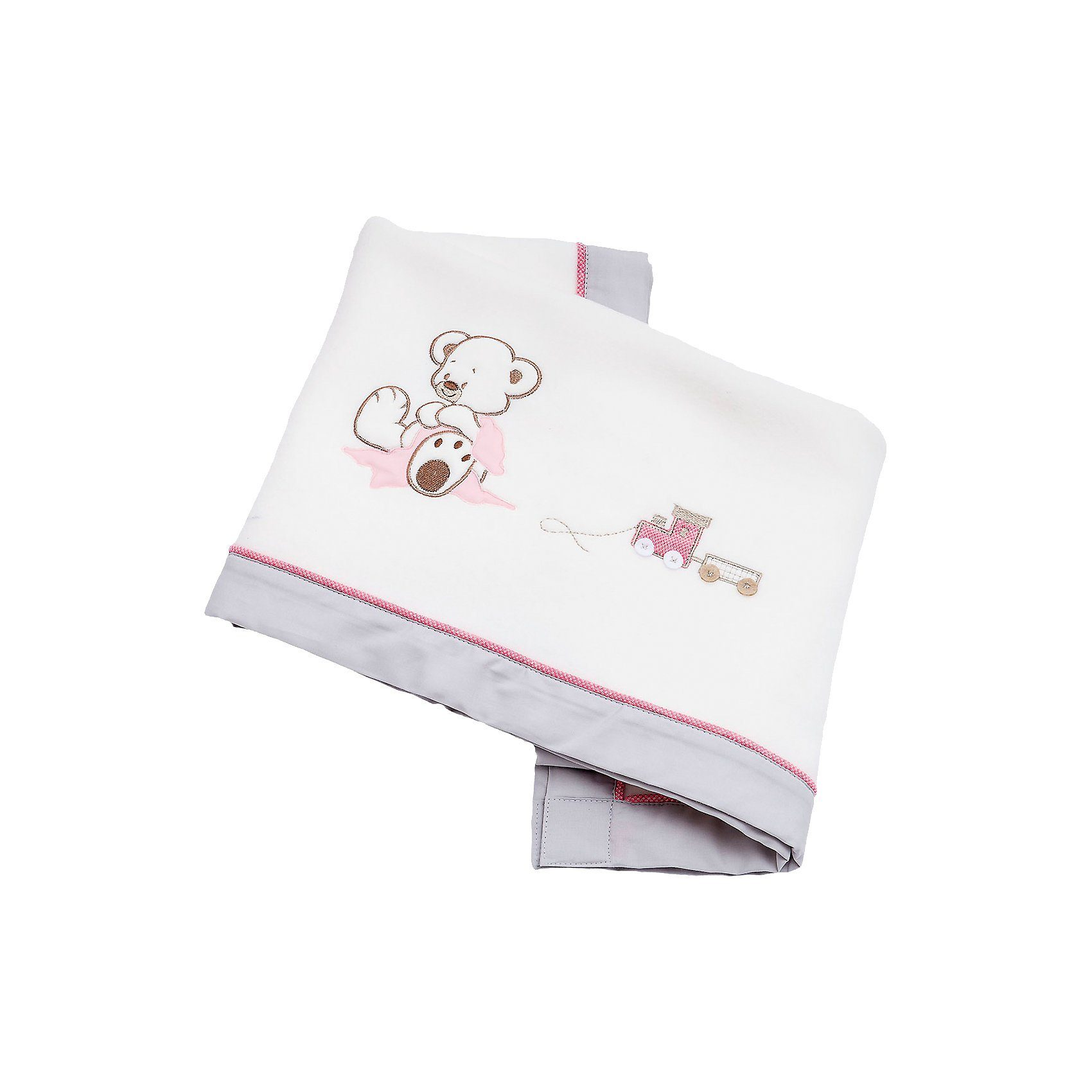 Be Be's Collection Fleece- Babydecke Oskar, rosa, 75 x 100 cm