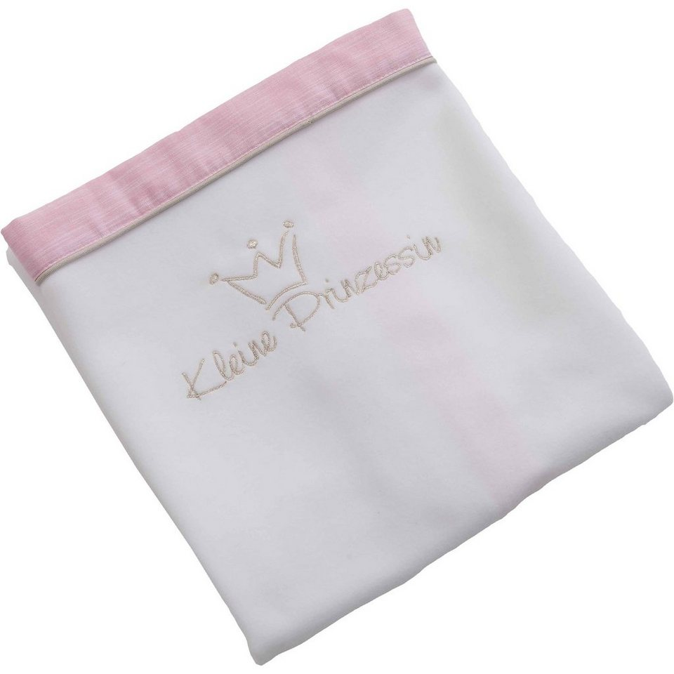 Be Be's Collection Fleece- Babydecke Kleine Prinzessin, rosa, 75 x 100 cm in rosa