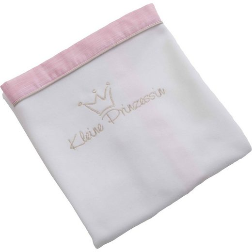 Be Be's Collection Fleece- Babydecke Kleine Prinzessin, rosa, 75 x 100 cm