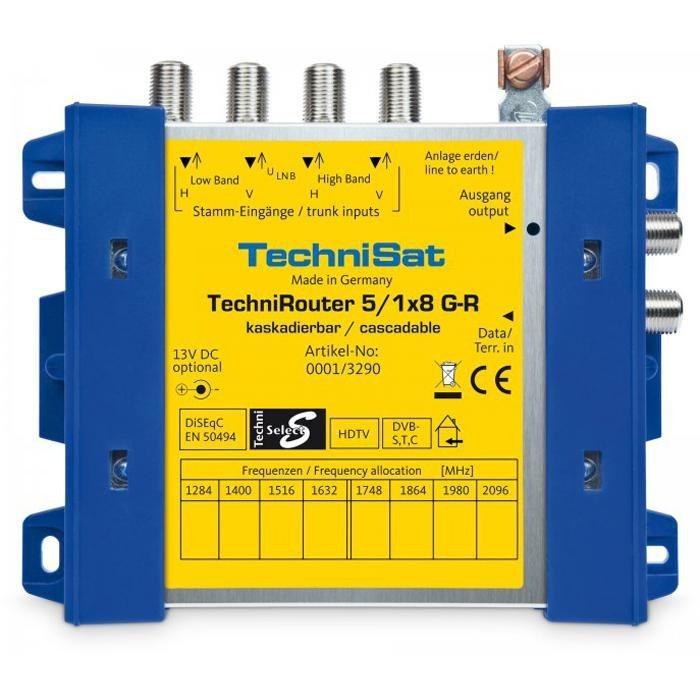 TechniSat Digitale Einkabellösung (Grundeinheit) »TechniRouter 5/1x8 G-R« in blau-gelb