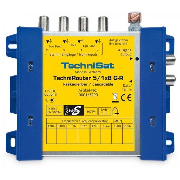 TechniSat Digitale Einkabellösung (Grundeinheit) »TechniRouter 5/1x8 G-R«