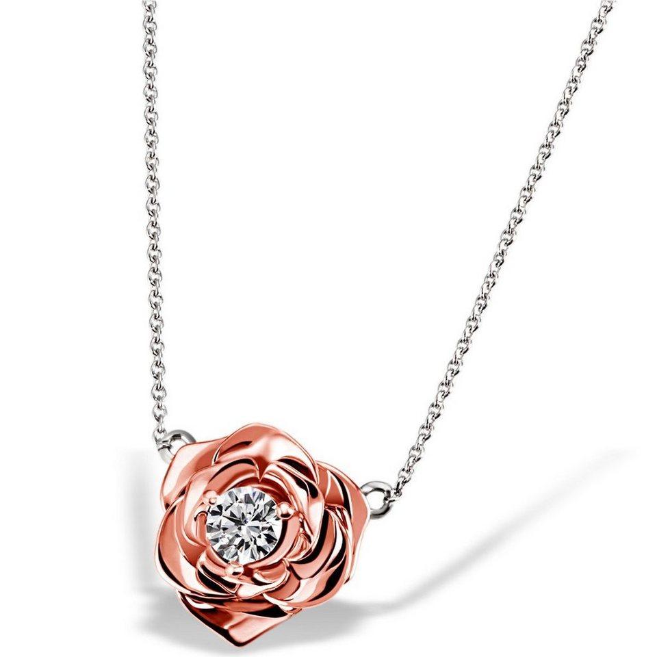 goldmaid Collier Lovely Rosé 925/- Sterlingsilber teilweise rot vergoldet in Bicolour