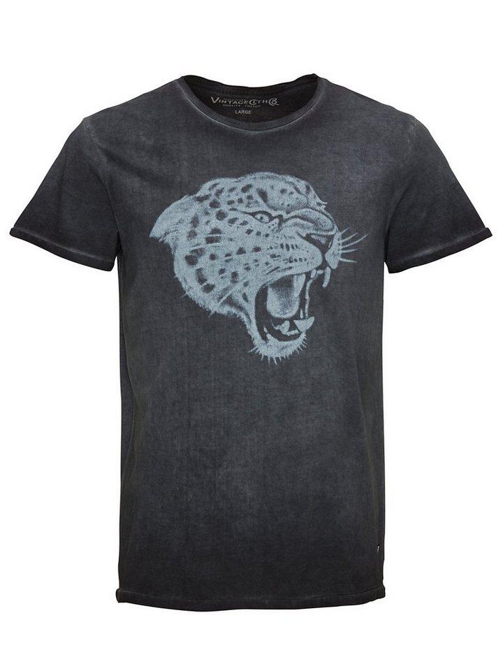 Jack & Jones Wildkatzenbedrucktes T-Shirt in Caviar