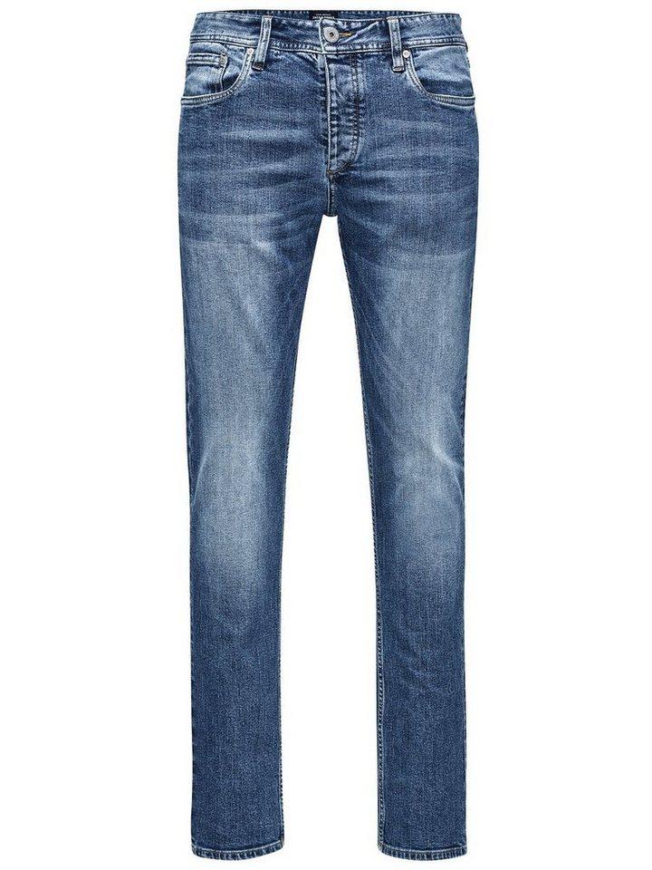 Jack & Jones Tim Original akm 765 Slim Fit Jeans in Blue Denim