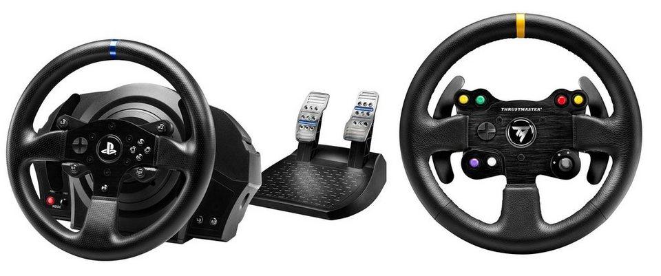 Thrustmaster Lenkrad TM T300 RS inklusive Wheel Add-On 28 cm GT-Leder Lenkrad »(PS4 PC)«