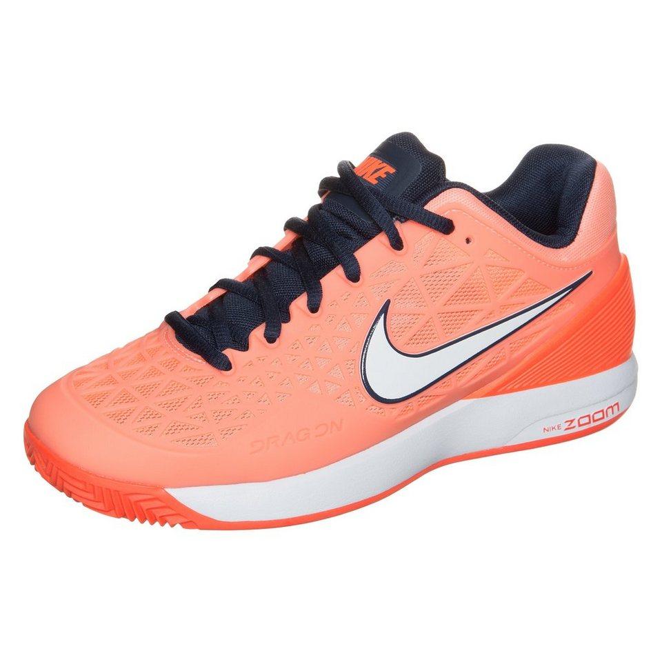 NIKE Zoom Cage 2 Clay Tennisschuh Damen in lachs / orange / bla