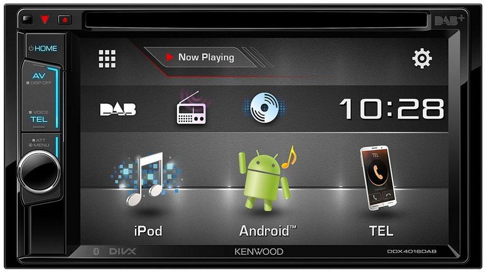 Kenwood 2-DIN Multim. Receiver Bluetooth »DDX4016DAB« in schwarz