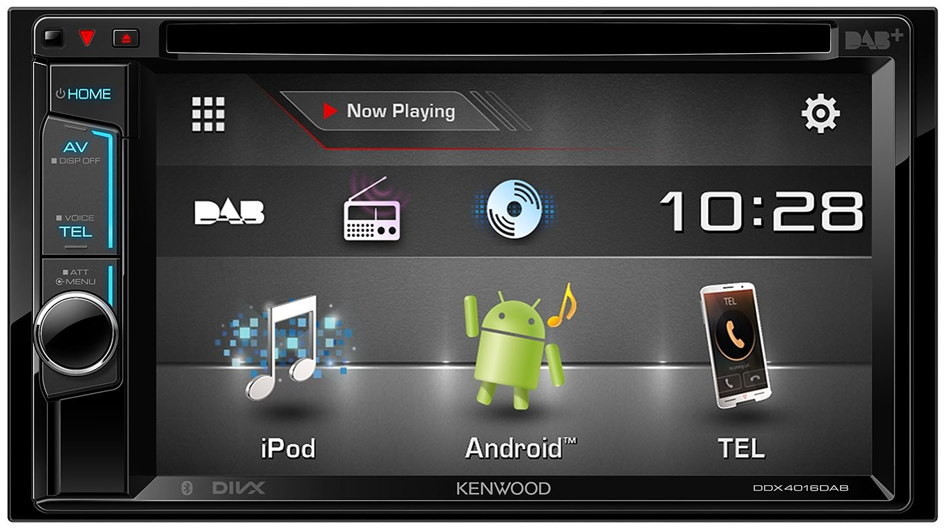 Kenwood 2-DIN Multim. Receiver Bluetooth »DDX4016DAB«