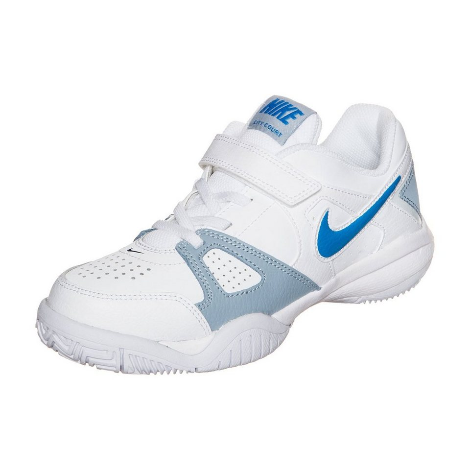 NIKE City Court 7 Tennisschuh Kinder in weiß / blau/ / grau