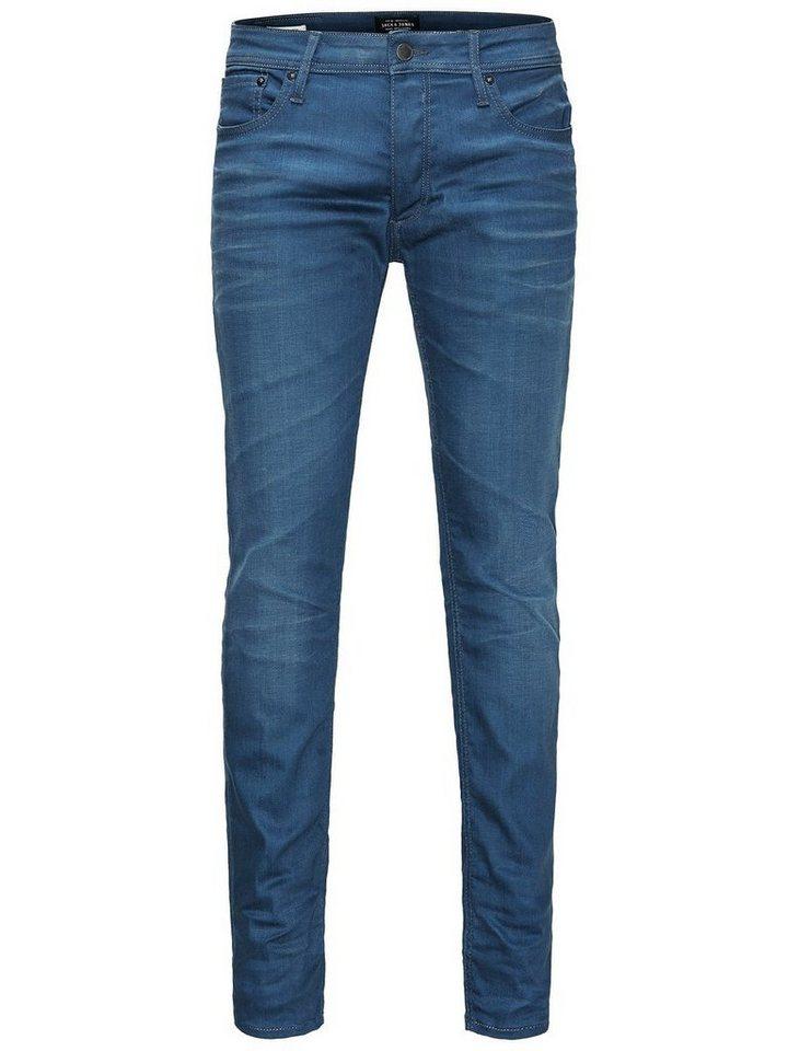 Jack & Jones Tim Original jj 620 Slim Fit Jeans in Blue Denim