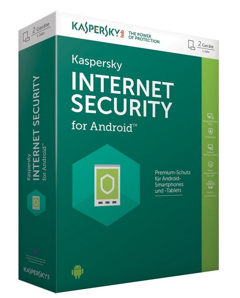 Kaspersky Anti-Virus-Software »Internet Security for Android 2 Geräte« in Grün