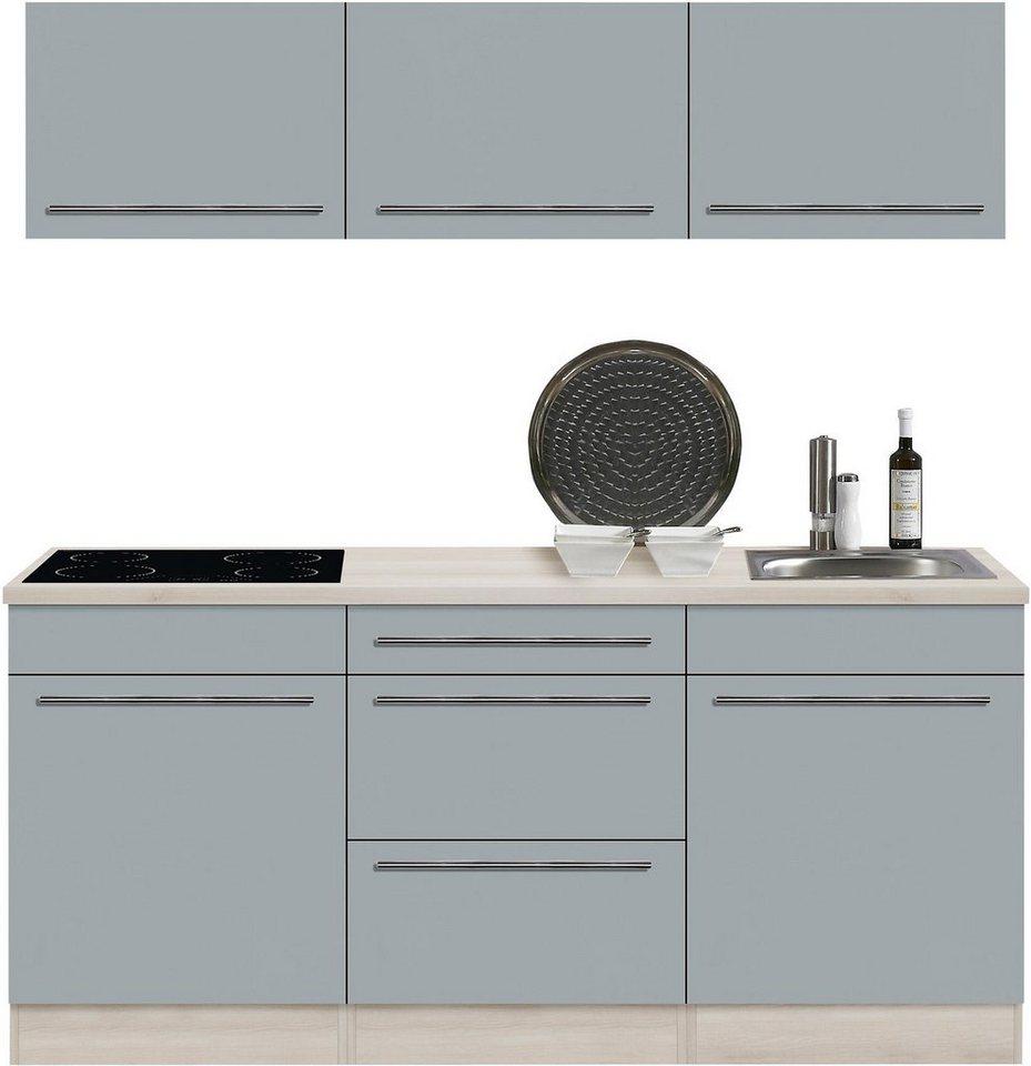 Optifit Küchenzeile mit E-Geräten »Bern«, Breite 180 cm in basaltgrau