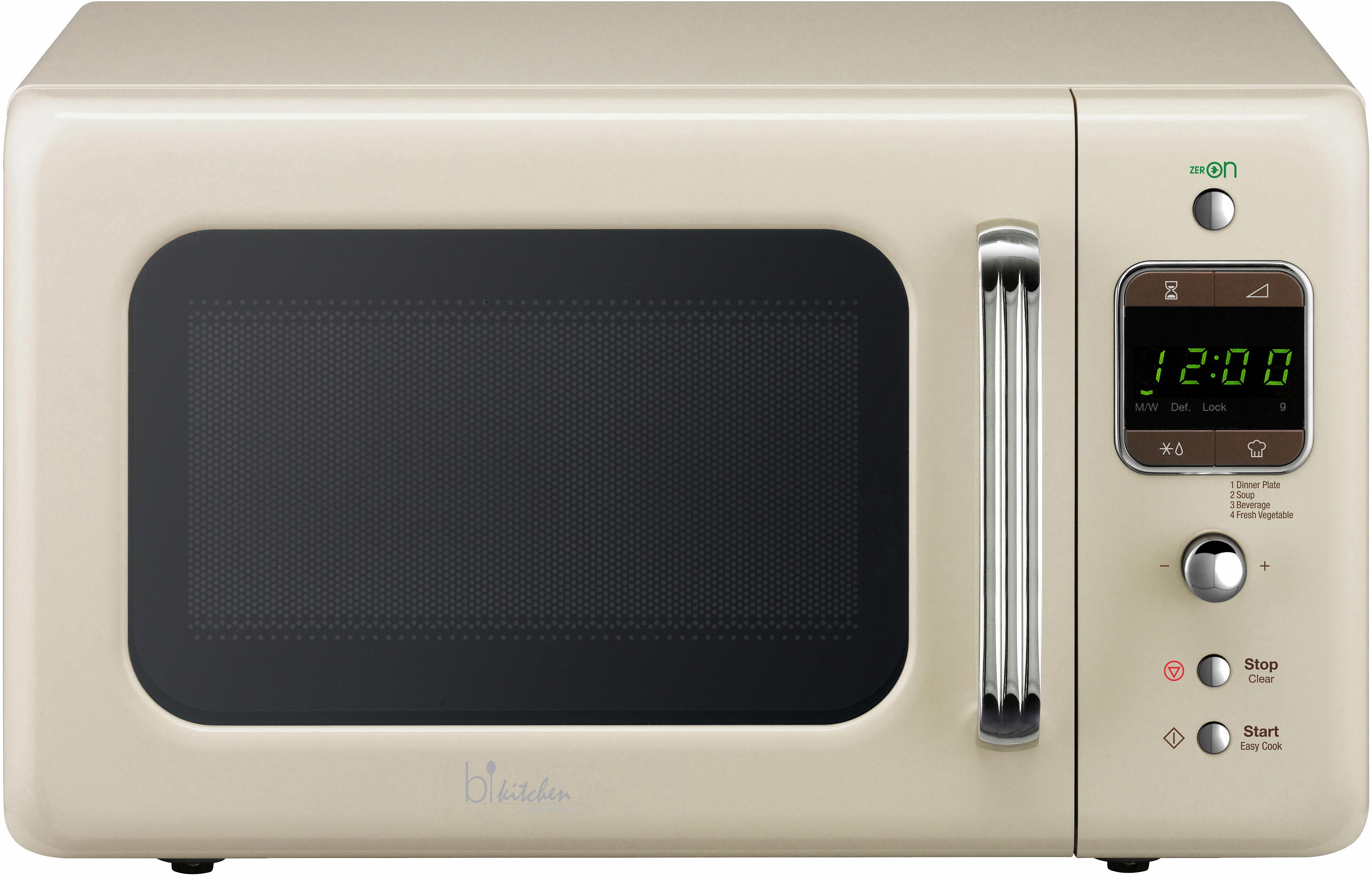 bkitchen Design Mikrowelle Cook 800, 20 Liter Garraum, 800 Watt, beige