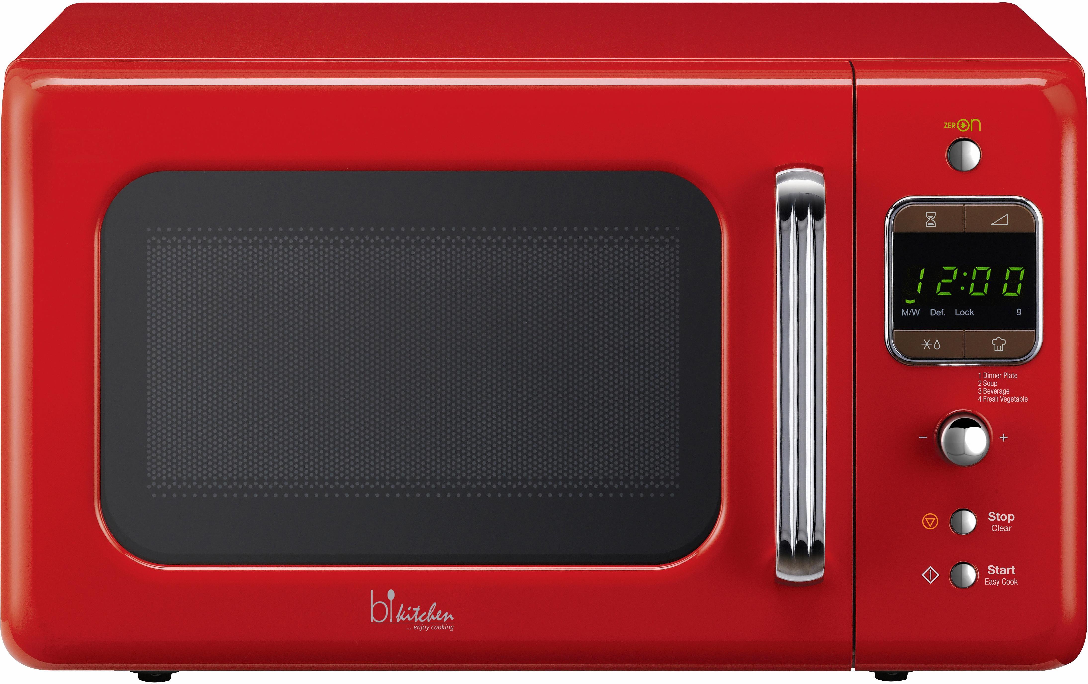 bkitchen Design Mikrowelle Cook 800, 20 Liter Garraum, 800 Watt, rot