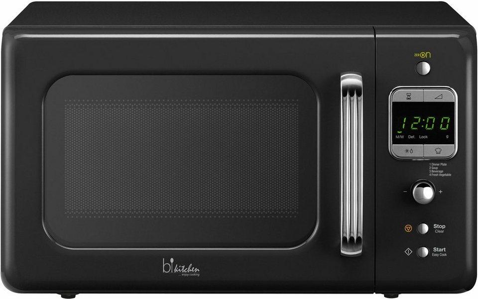 bkitchen Design Mikrowelle Cook 800, 20 Liter Garraum, 800 Watt, schwarz in schwarz