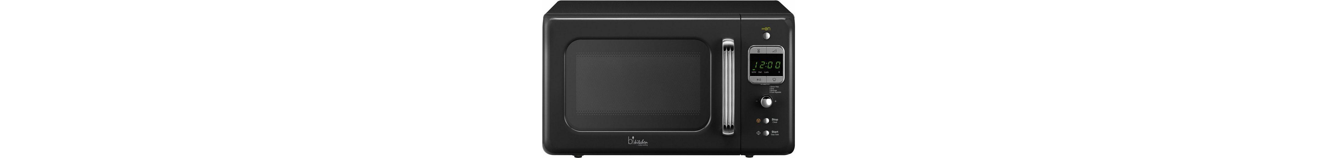 bkitchen Design Mikrowelle Cook 800, 20 Liter Garraum, 800 Watt, schwarz