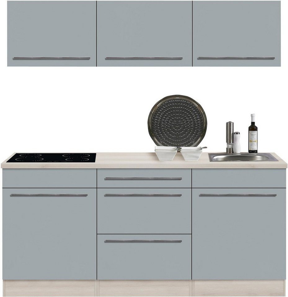 Optifit Küchenzeile ohne E-Geräte »Bern«, Breite 180 cm in basaltgrau