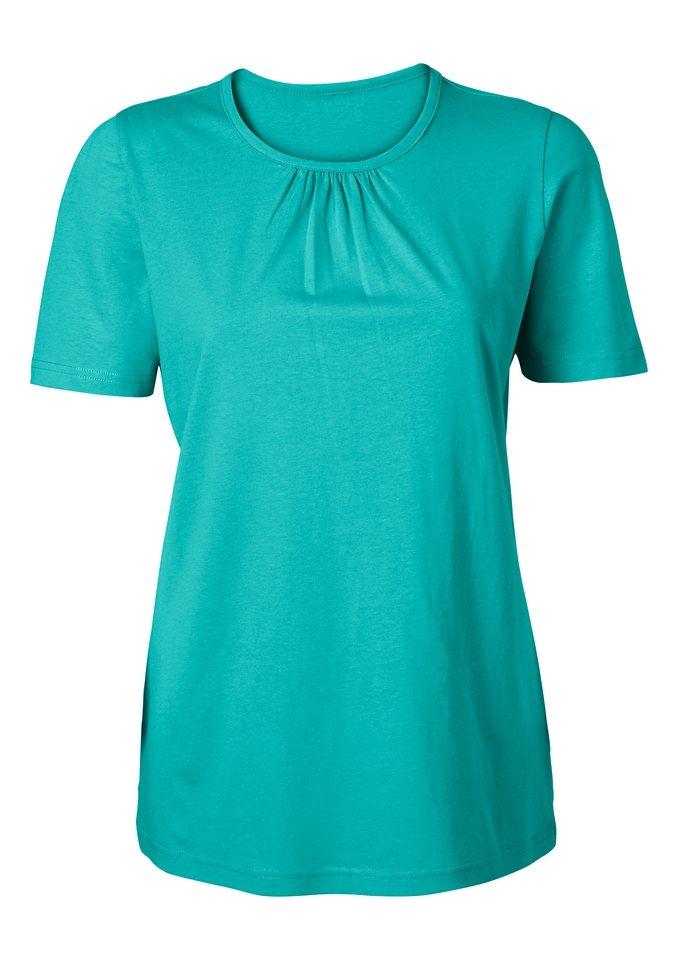 Classic Basics Shirt aus reiner Baumwolle in türkis