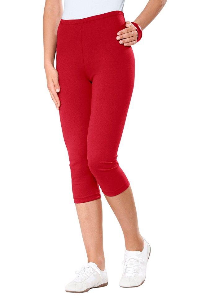 Capri-Leggings (2 Stck.) in rot + schwarz