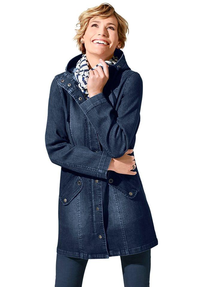 Classic Basics Jeans-Jacke mit Teilungsnähten in dark blue