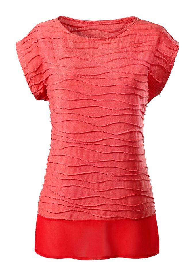 Ambria Longshirt mit überschnittenen Schultern in rot
