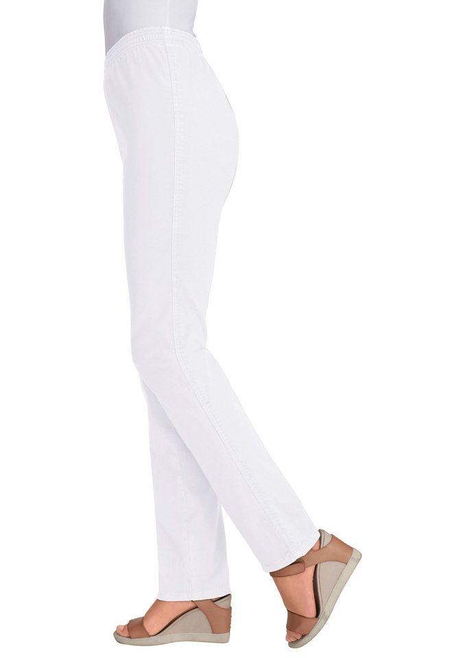 Classic Basics Jeans mit geradem Schnitt in weiß