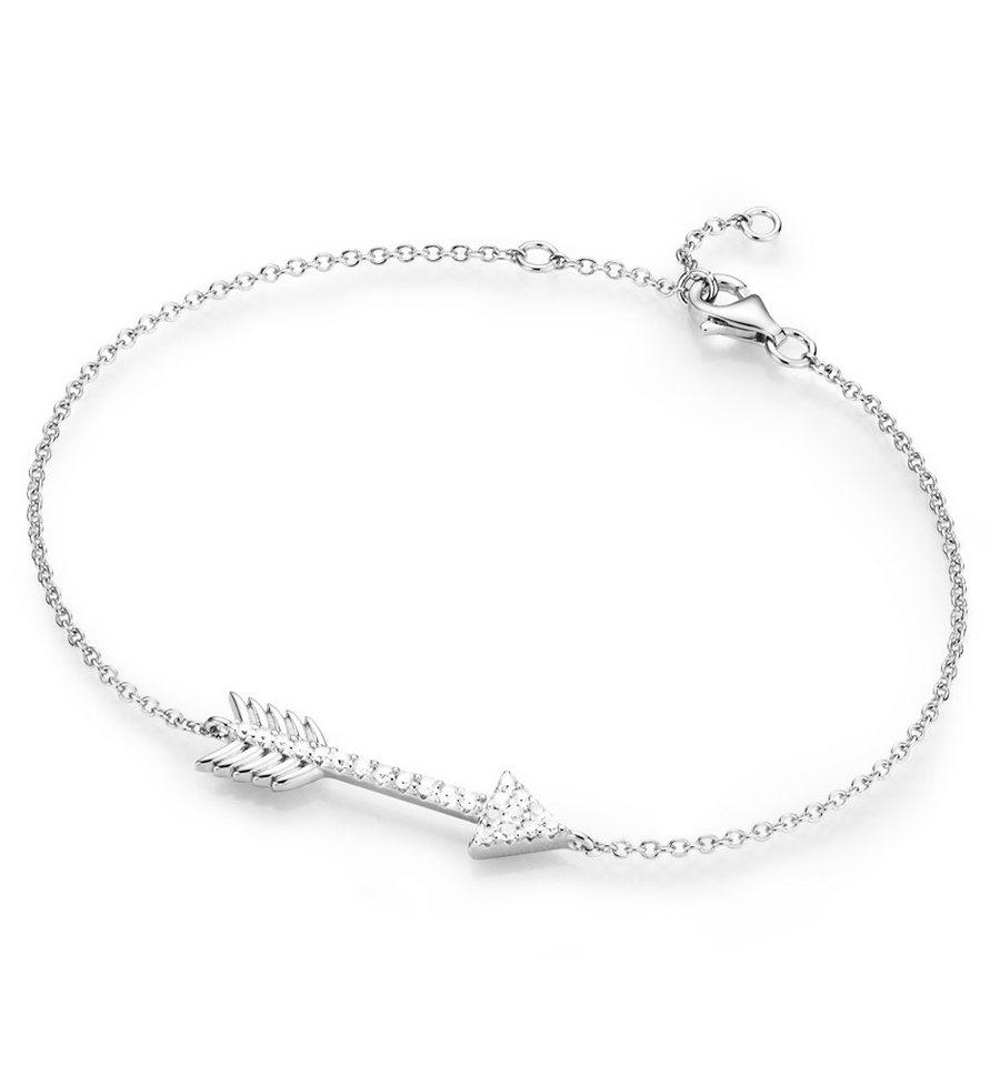 firetti Armband mit Zirkonia, »Pfeil« in Silber 925