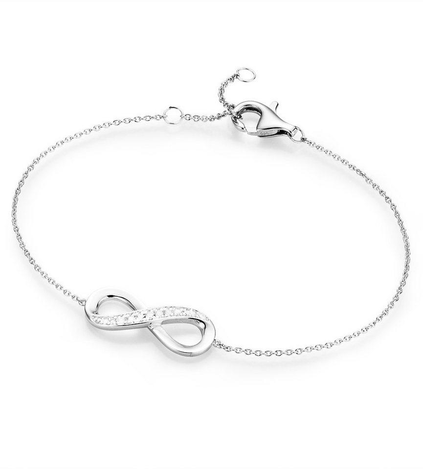 firetti Armband mit Zirkonia, »Undendlichkeit« in Silber 925