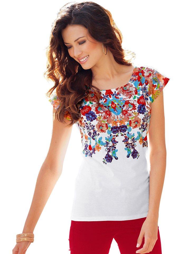 Lady Shirt in weiß bedruckt