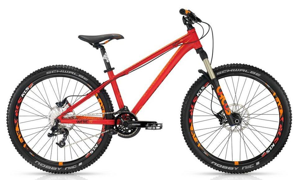 Kellys Dirtbike, 26 Zoll, 9 Gang SRAM Kettenschaltung, »Whip 70« in rot