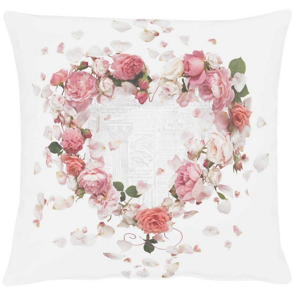 Apelt Kissenhülle, »5904 SPRINGTIME Rosen« in rosa