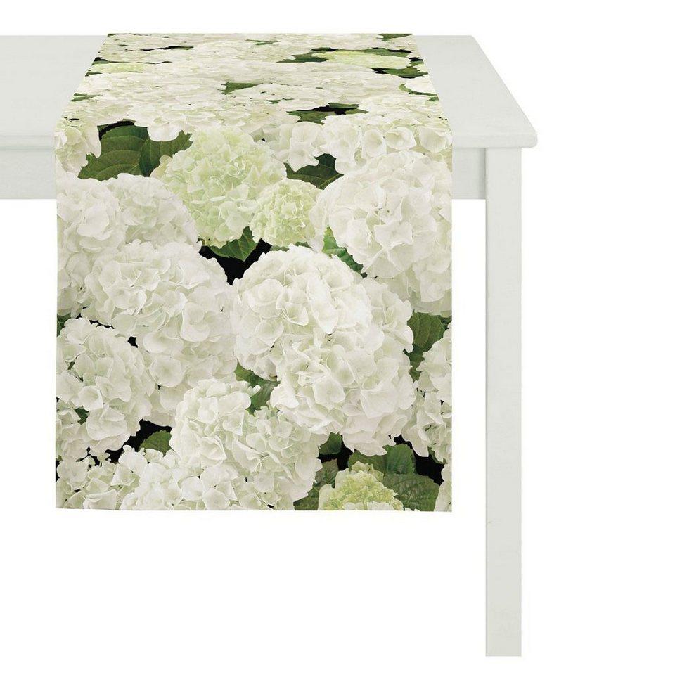 Apelt Tischdecke, »5900 SPRINGTIME Hortensie« in grün