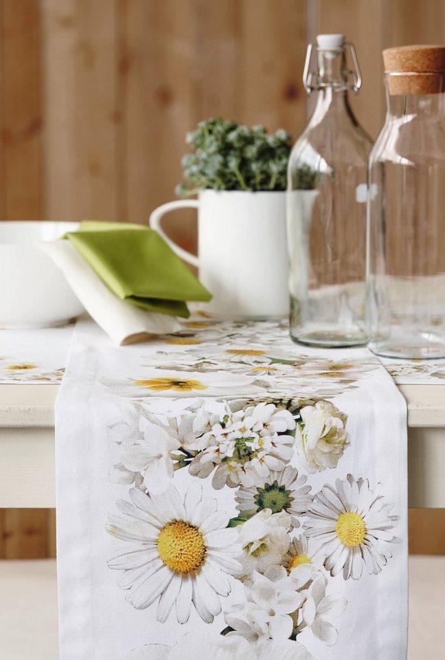 Apelt Tischdecke, »5907 SPRINGTIME Margariten« in weiß